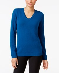 Charter Club Petite Cashmere V Neck Sweater Only At Macy's Twilight Teal