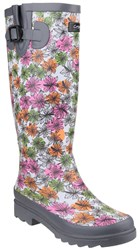 Cotswold Flower Power Wellington Boots Grey