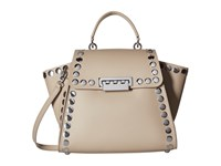 Zac Posen Eartha Iconic Top Handle Malt Top Handle Handbags Brown