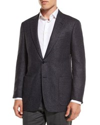 Giorgio Armani Textured Mixed Box Sport Coat Blue Gray