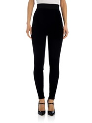 Dolce And Gabbana Cady Stretch Leggings Black
