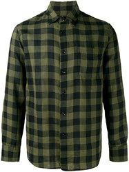 Rag And Bone Plaid Shirt Green