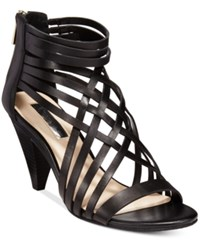 Inc International Concepts Garoldd Strappy High Heel Dress Sandals Only At Macy's Women's Shoes Black