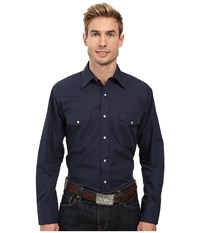 Roper 0487 Solid Broadcloth Navy Blue Men's Clothing
