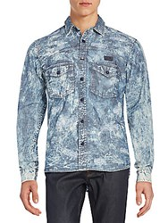 Prps Fornax Distressed Denim Sportshirt Light Blue