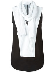 Givenchy Scarf Detail Sleeveless Blouse Black