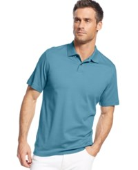 Tasso Elba Soft Touch Signature Solid Polo Chalky Blue