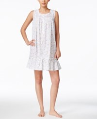 Eileen West Sleeveless Ruffled Short Nightgown