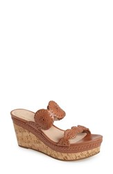 Women's Jack Rogers 'Leigh' Wedge Sandal Cognac