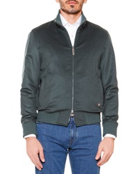 Stefano Ricci Cashmere Full Zip Jacket Green
