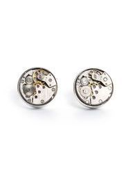 Paul Costelloe Carsten Clockwork Cufflinks Silver