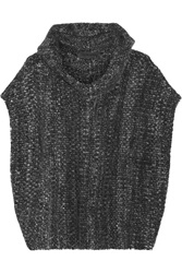 The Elder Statesman Malta Melange Cashmere Hooded Poncho