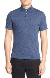 Men's Zachary Prell 'Leoni' Cotton Polo Navy