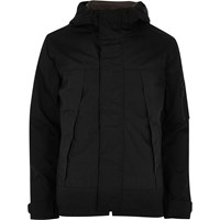 Only And Sons River Island Mens Black Short Hooded Jacket