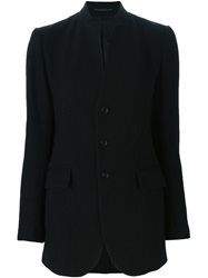 Y's Stand Up Collar Blazer Black