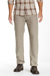 John Varvatos Authentic Fit Linen Pant Brown