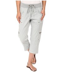 Xcvi Keene Crop Pants Camouflage Pigment Women's Casual Pants White