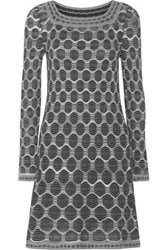M Missoni Stretch Knit Jacquard Mini Dress Gray