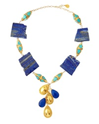 Devon Leigh Lapis And Turquoise Necklace Large