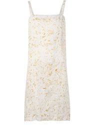 Dosa Sleeveless Shift Dress White