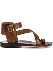 Calleen Cordero 'Amanda' Sandals Brown