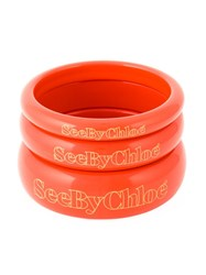 See By Chloe Set Of Three Bangles Yellow And Orange