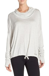 Women's Bench. 'Highs' Cowl Neck Top Pale Grey Marl