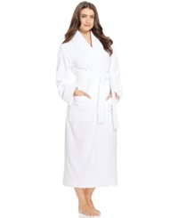 Charter Club Long Luxe Terry Robe Bright White