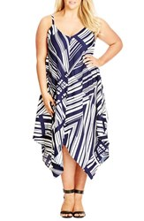 Plus Size Women's City Chic 'Riviera' Handkerchief Hem Sundress
