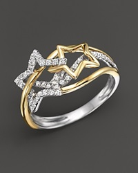 Bloomingdale's Diamond Star Ring In 14K Yellow And White Gold .30 Ct. T.W. White Gold