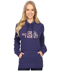 The North Face Avalon Crystal Floral Pullover Hoodie Patriot Blue Women's Sweatshirt Navy