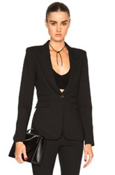 Smythe Peaked Label Blazer In Black