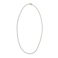 Nina B Silver Ball Chain Necklace