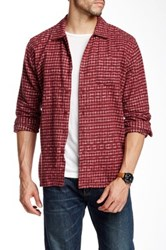 Obey Caster Faded Plaid Trim Fit Shirt Red