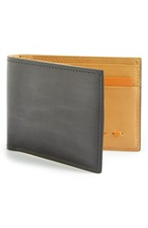 Men's Magnanni 'Arkansas' Leather Bifold Wallet Grey
