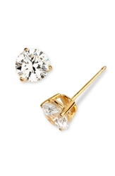 Nordstrom Boxed Round 3Ct Tw Cubic Zirconia Earrings Gold Vermeil