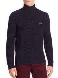 Lacoste Long Sleeve Turtleneck Sweater Navy