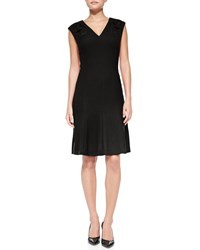 Rena Lange Sleeveless V Neck Dress With Cutouts Women's