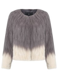 Unreal Fur Fire And Ice Jacket Charcoal Champagne