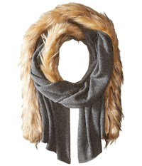 Lauren Ralph Lauren Jersey Coyote Scarf Concrete Heather Scarves Gray
