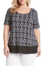 Karen Kane Plus Size Women's Sheer Hem Top