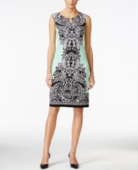 Jm Collection Petite Sleeveless Paisley Print Dress Only At Macy's Green Pasiley Fan