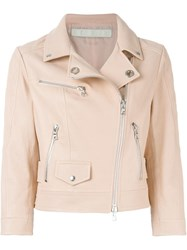 Drome Classic Biker Jacket Pink And Purple