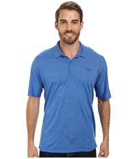 Icebreaker Sphere S S Polo Cadet Heather Men's Short Sleeve Pullover Blue