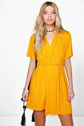 Monnie Short Sleeve Tie Waist Wrap Dress
