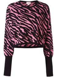 Giamba Zebra Pattern Sweater Black