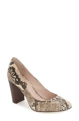 Women's Louise Et Cie 'Jianna' Stacked Heel Pump Brown Multi