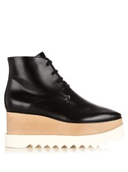 Stella Mccartney Elyse Lace Up Platform Ankle Boots Black