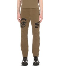 Mhi Zoku Cotton Stretch Trousers Maha Olive