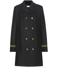 Tory Burch Optique Wool Blend Coat Black